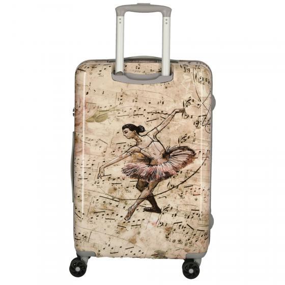 YNot Print Case 4-Rollen-Trolley 65 cm M Ballerina spartito-rose