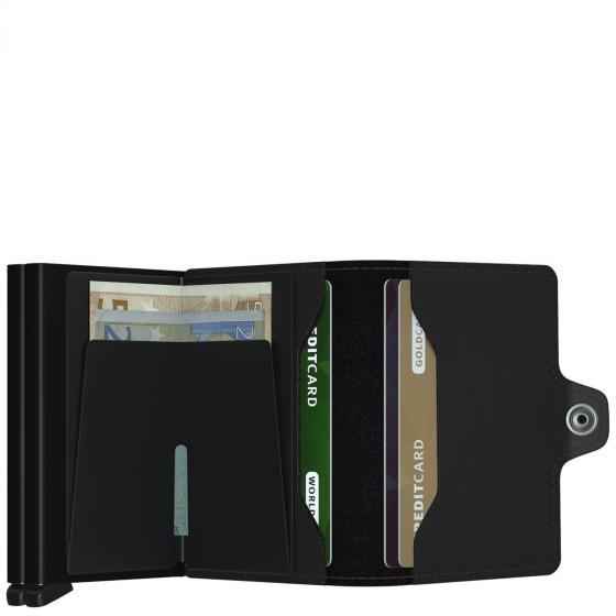 Matte Twinwallet Börse mit RFID Schutz 7 cm black
