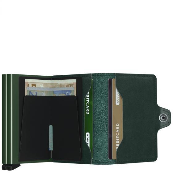 Original Twinwallet Börse mit RFID Schutz 7 cm green