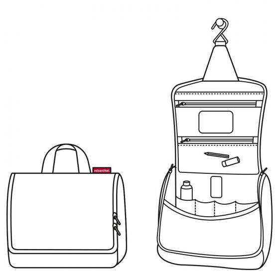 cosmetics toiletbag XL / Kulturbeutel 28 cm glencheck red