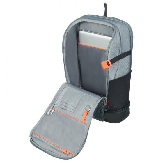 "Hexa Packs Laptop Backpack 15.6"" 50 cm L grey print"
