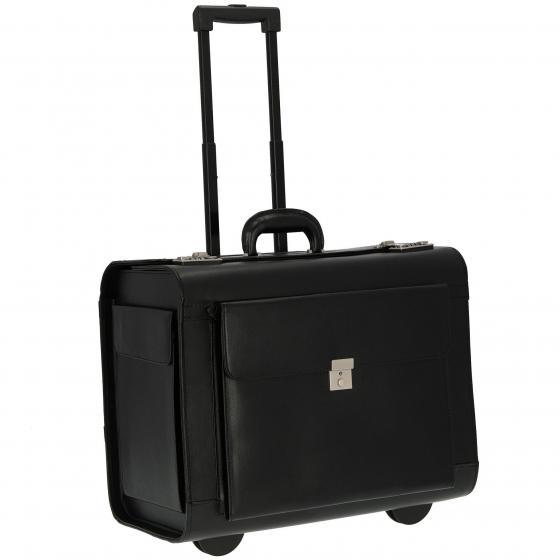 Pilotenkoffer Businesstrolley 49.5 cm schwarz