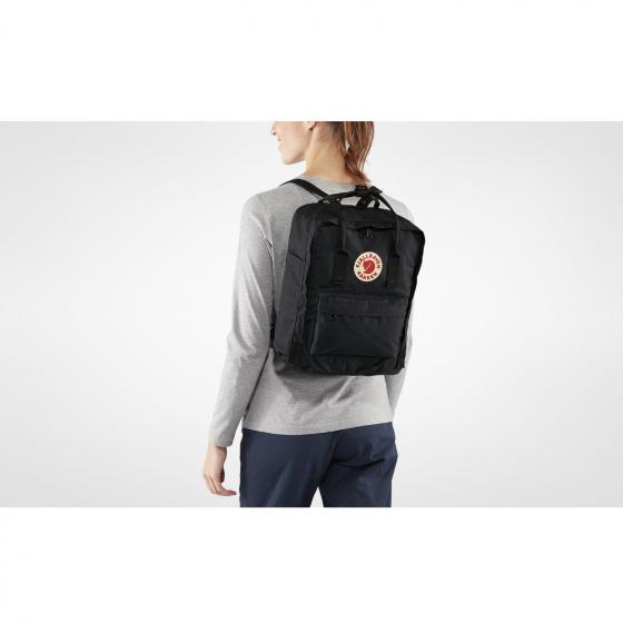 Kanken Rucksack 38 cm black-ox red
