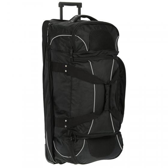 2-Rollenreisetasche Nylon mit Rucksackfunktion 88 cm schwarz