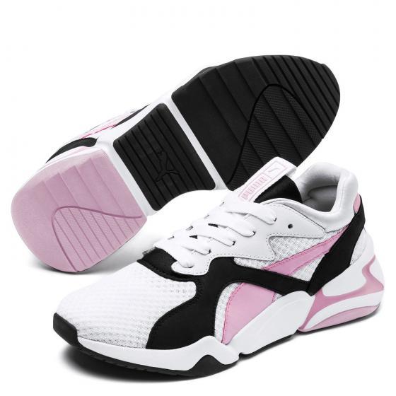 Women Nova 90´s Bloc Running Schuh 369486 38,5 | white/pale pink