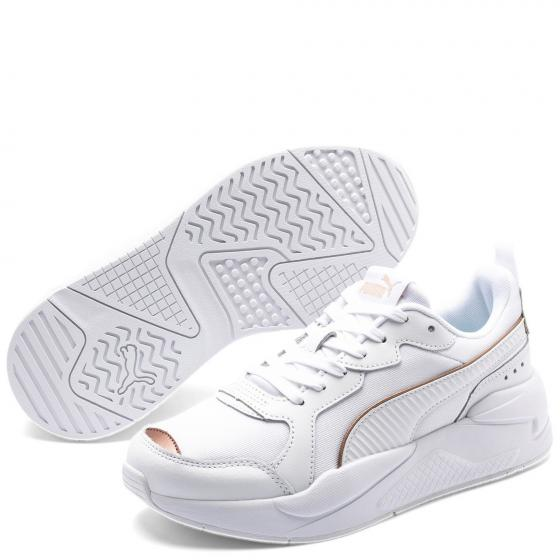 Women X-Ray Metallic Sneaker Schuh 373072 38 1/2 | Puma White-Rose Gold