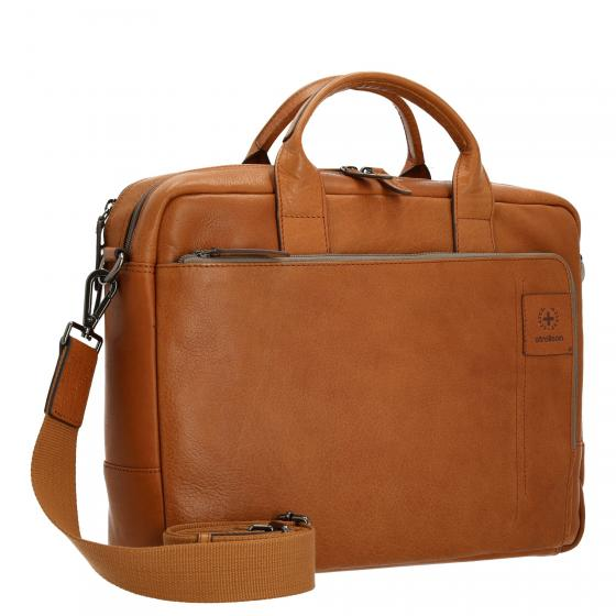 """Hyde Park Briefbag Umhängetasche mit Laptopfach 18.4"""" 39 cm S cognac"""