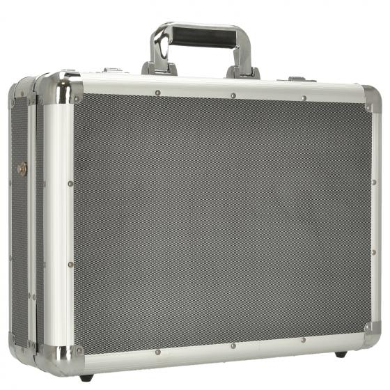 Laptop Attachékoffer C-1 45.5 cm 17'' silber-carbon