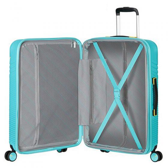 Triple Trace 4-Rollen-Trolley 67/24 cm erw. turquoise yellow