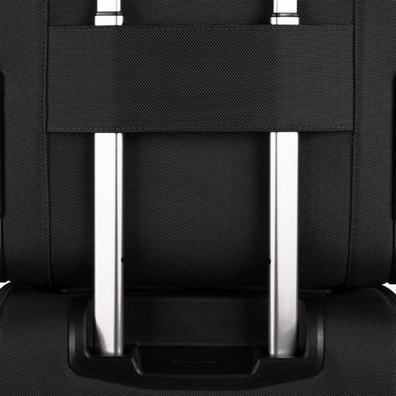 schmaler Computertrolley aus rezykliertem Stoff black