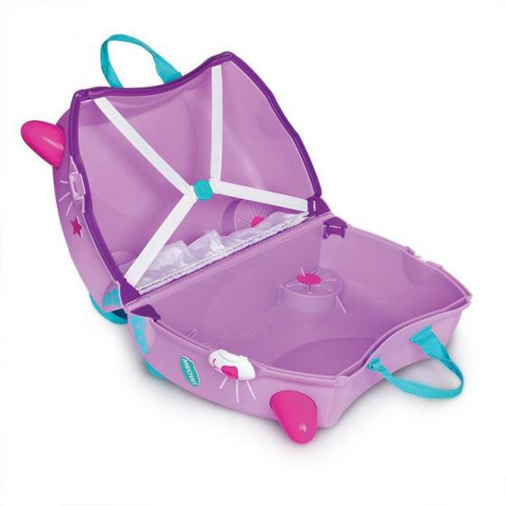 Ride-On Koffer befahrbarer Kindertrolley 46 cm Cassie Candy Cat