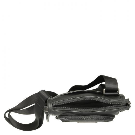 Alpha3 Pocket Bag Small Leder - Umhängetasche 24 cm black