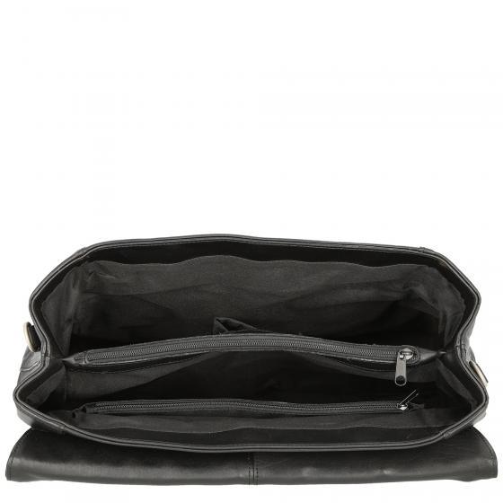 Aktentasche Nappa mit Überschlag 39.5 cm schwarz