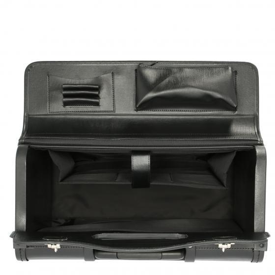 Pilotenkoffer Businesstrolley 48 cm schwarz