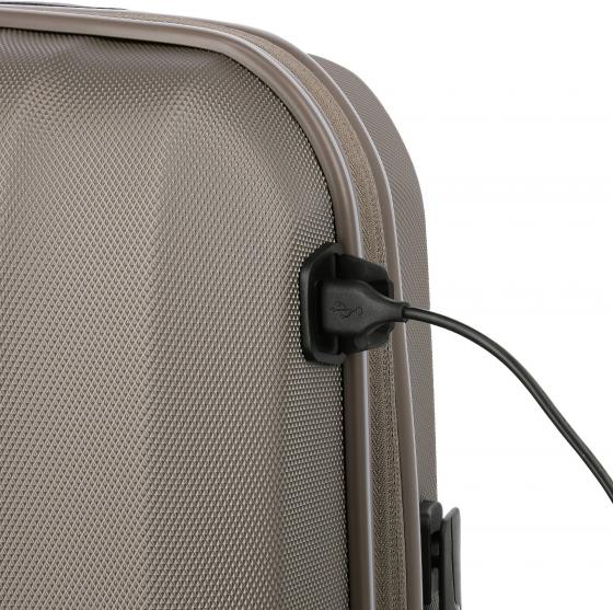 Xenon 4-Rollen-Kabinetrolley mit USB Anschluss 55 cm S Modell 2020 black