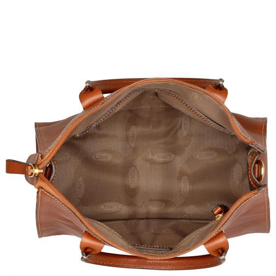 Life Pelle Handtasche 28 cm cognac