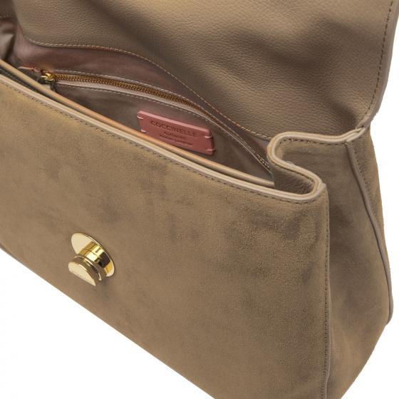 Liya Suede Handtasche 30 cm new taupe