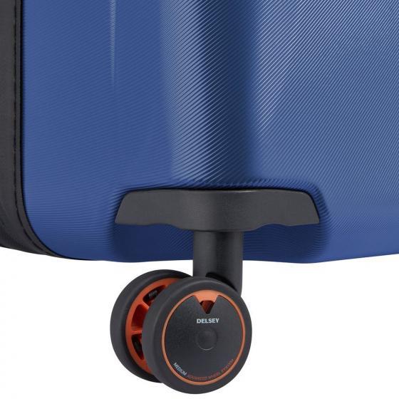 Cactus 4-Rollen-Kabinentrolley Slim Line mit USB-Anschluss  55 cm blau