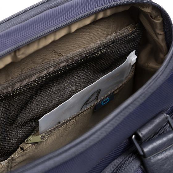 Brief 2 Fast-Check Kurzgrifflaptoptasche aus rezykliertem Stoff 38 cm blue