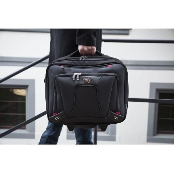 "600664 Transfer 16"" Expandable Wheeled Laptop Case black"
