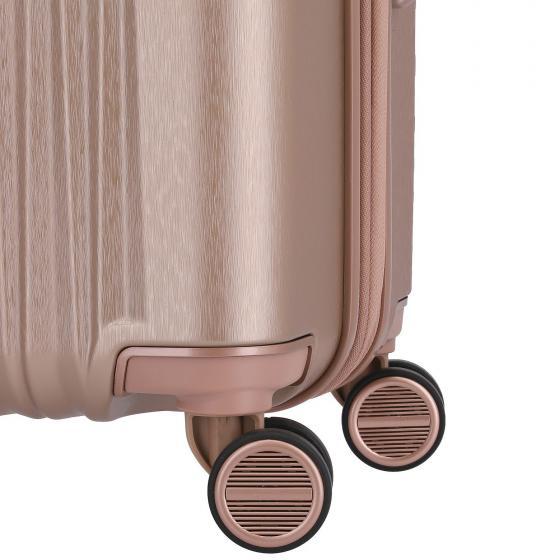 Barbara Glint 4-Rollen-Trolley 67 cm M erweiterbar rose metallic