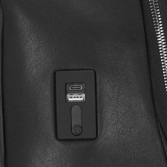 Roadster Leather Rucksack M 44 cm black