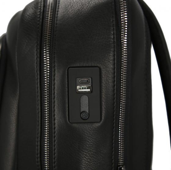 Roadster Leather Rucksack L 47 cm black