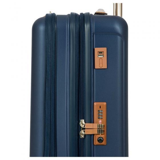 Capri 4-Rollen-Kabinentrolley mit Vortasche 55 cm blau