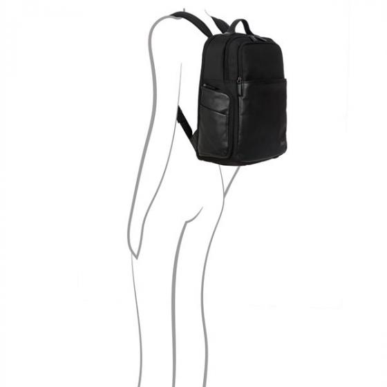 "Monza Rucksack L Business 45 cm 15,6"" black"