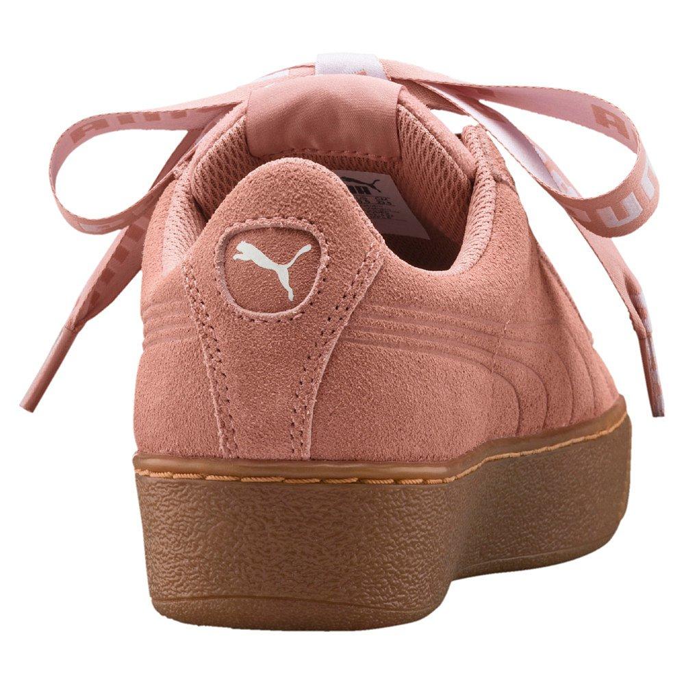 Puma Womens Vikky Platform Ribbon Bold Sneaker Schuh 365314